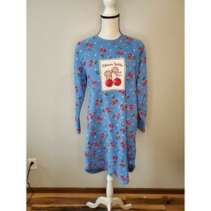 Mary Engelbreit Small Nightgown Blue Red Cherry